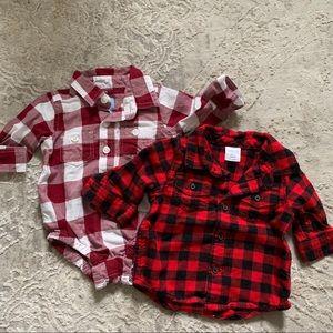 0-3 Months Flannel Dress Shirts